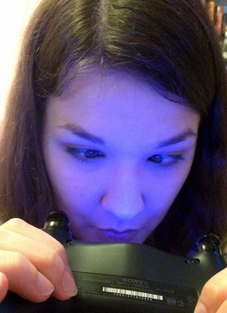 Cross-Eyed Looking into PS4 Controller Light