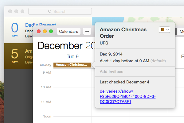 Deliveries Tracks Incoming Packages, Adds Dates to Your Calendar calendar integration working