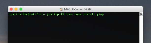 The Best Mac-Only Open Source Software cask install gimp