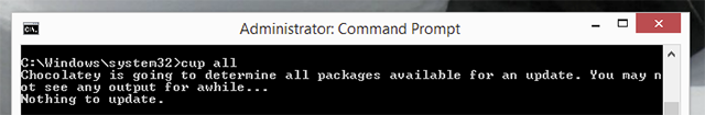 The Quickest Way To Install Windows Software: From The Command Prompt chocolatey update