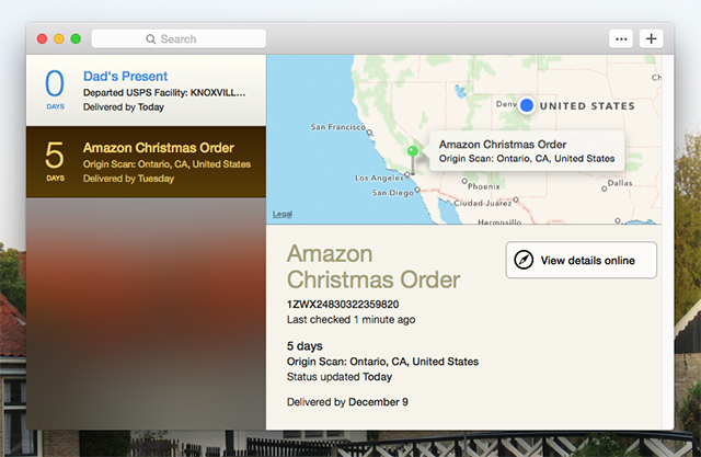 Deliveries Tracks Incoming Packages, Adds Dates to Your Calendar deliveries main