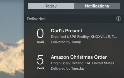Deliveries Tracks Incoming Packages, Adds Dates to Your Calendar deliveries widget