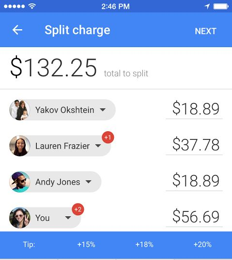 google-wallet-split-charge