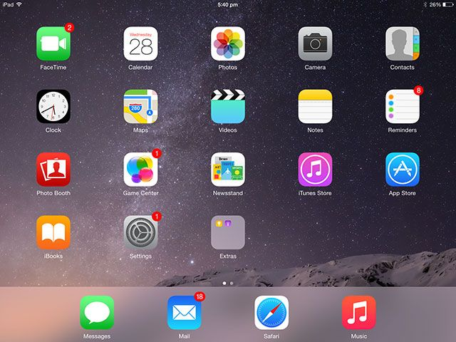 iPad Air 2 Review And Giveaway homescreen