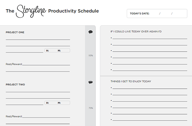 SinglePage Productivity Planners To Organize Your ToDo List - Productivity planner review