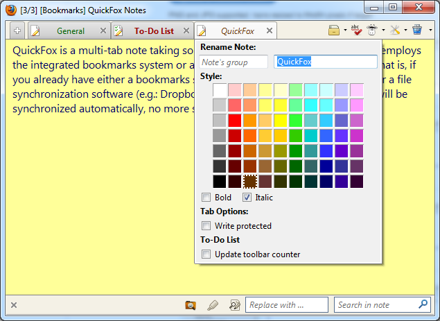 The Best Firefox Addons quicknotes2