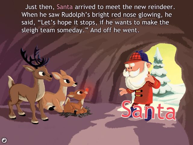 6 Christmas Stories Brought to Life on the iPad rudolph ipad app