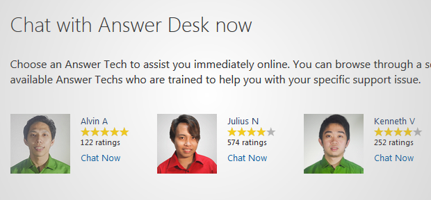 windows answer desk