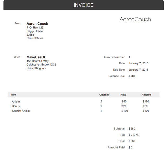 no sign up required create free invoices quickly