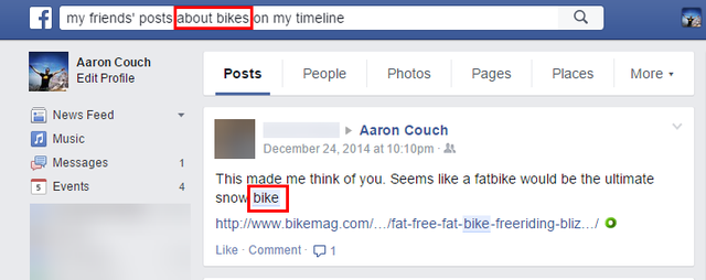 3.2 Facebook Graph Search - Friends posts