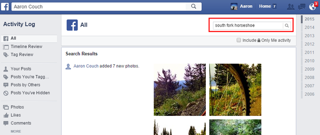 5.2 Facebook - All Activity - Search Posts