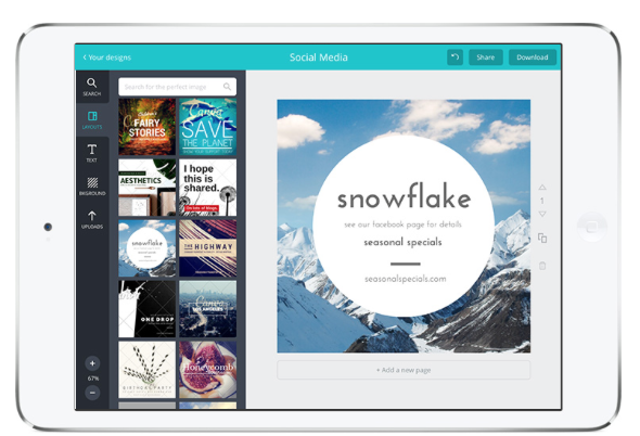 Canva iPad app | Design with the Canva iPad app Safari Today at 11 53 31 AM