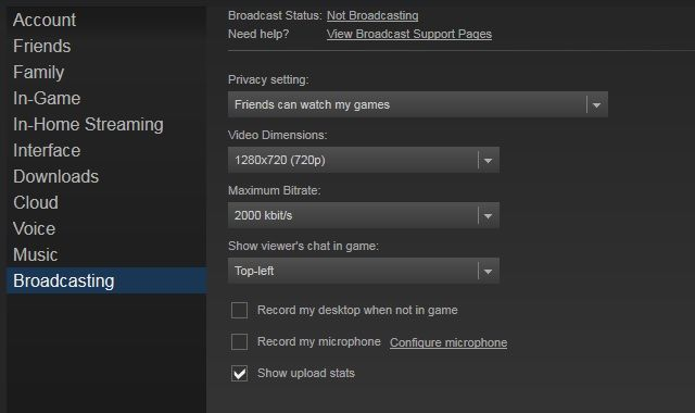 Steam-Broadcast-Settings