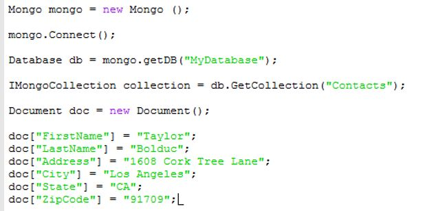 mongodb document