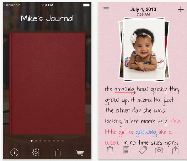 my daily journal app