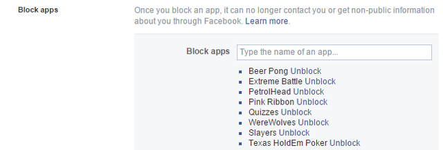 9 Facebook - Settings - Blocking - app invites