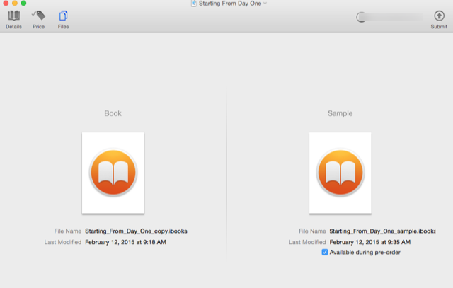 ITunes connect_book files