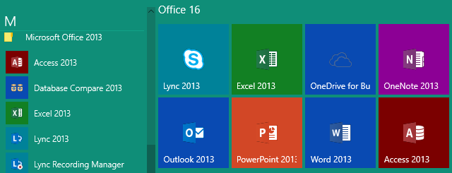 Office 16 with 2013 Suffix