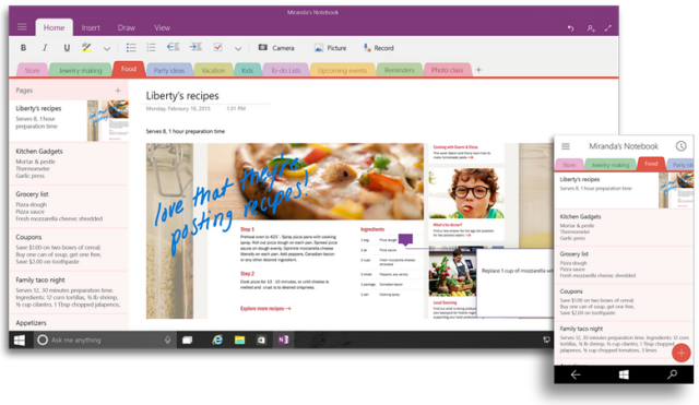 OneNote Windows 10