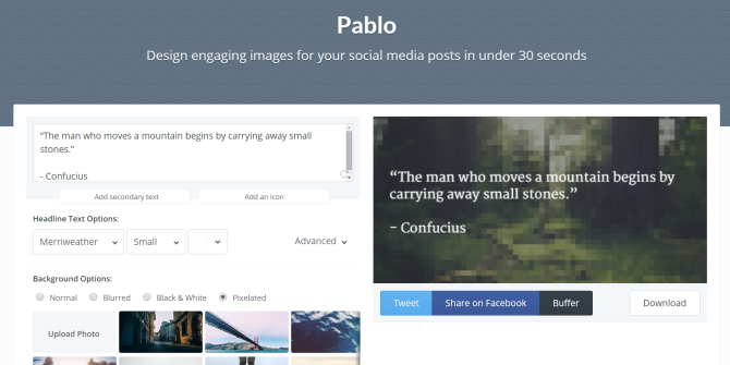 Meet Pablo by Buffer: Create Stunning Images With Text for Social Networks