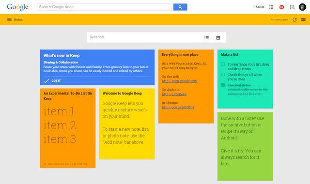 Notetaking Chrome Extension - Google Keep