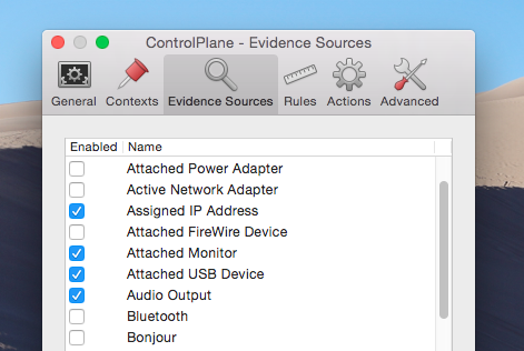 Automate Mac Settings Depending On Your Location With ControlPlane controlplane evidence sources