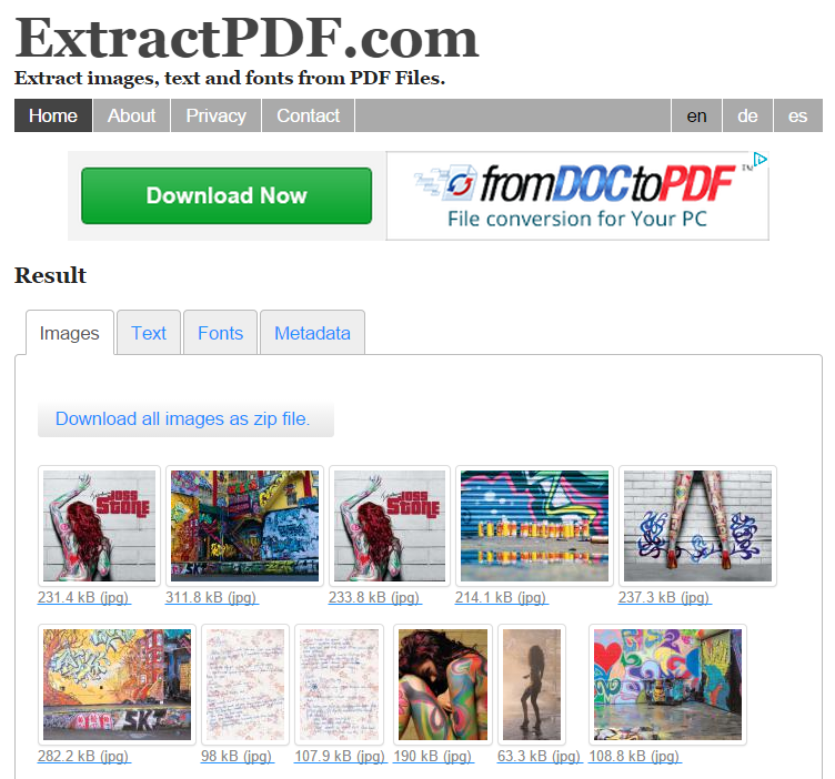 5 Tools to Extract Images From PDF Files extractpdf