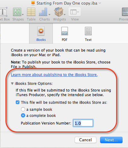 How to write and publish your first ibook using ibooks author ibookexport fandeluxe Image collections
