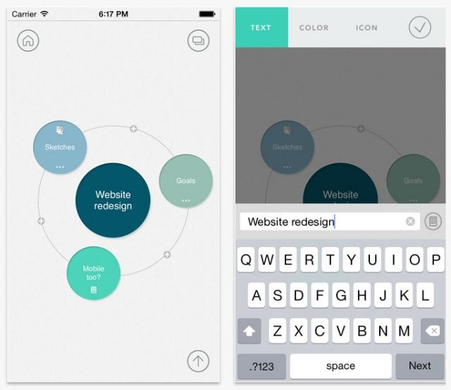 8 diagramming apps for better brainstorming on the go mindly is a true no frills option for those wanting a simple and clean mind mapping tool it is app is designed for both iphone and ipad ccuart Choice Image