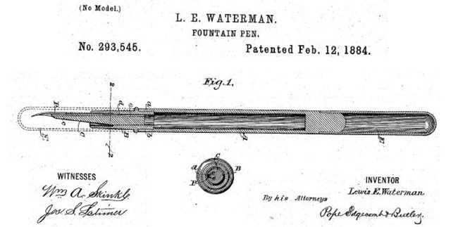 waterman-fountain-pen-patent