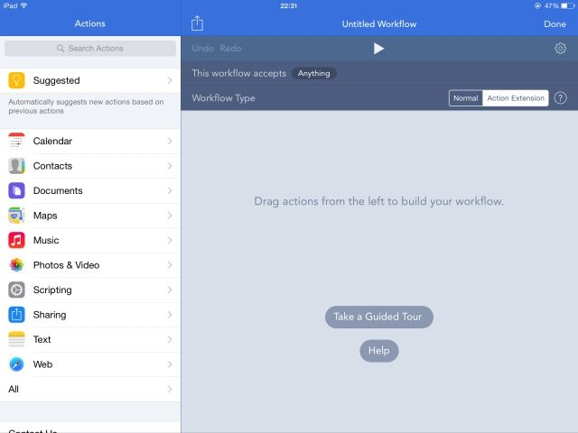 How To Create Your Own Extensions For Your iPhone & iPad workflow iOS create workflow