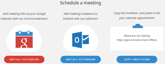 2.2 GoToMeeting Free - Schedule meeting