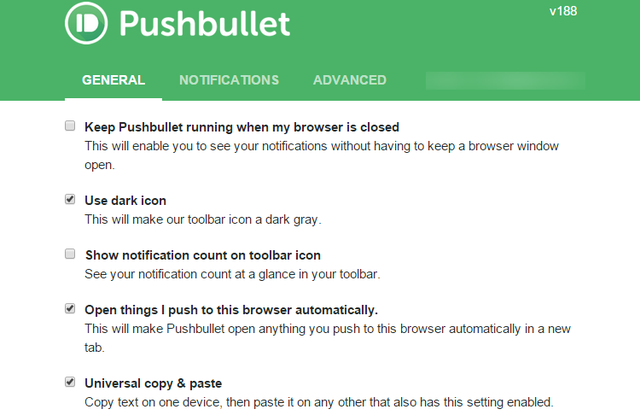 2.2 Pushbullet Settings Chrome