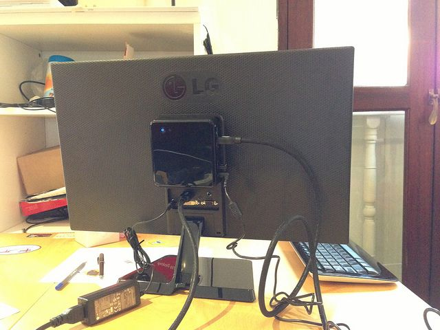 NUC Attached to LG Display