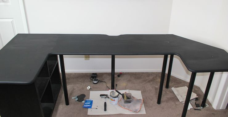 DIY Sitting / Standing Desk Desk 012