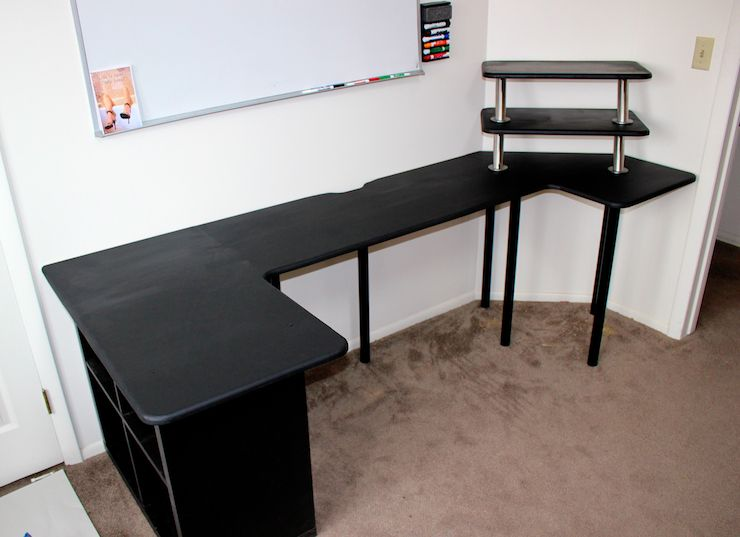 DIY Sitting / Standing Desk Desk 013