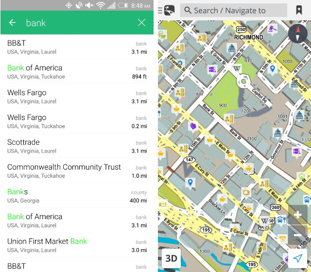 how to find nearby places in google maps