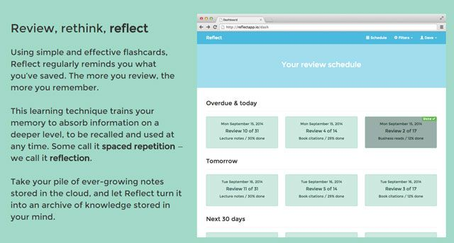 Review your Evernote notes.
