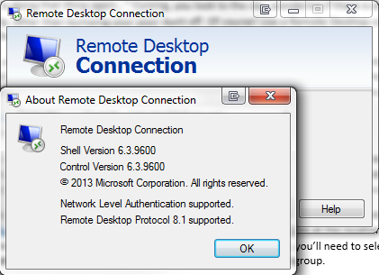 Remote Desktop About