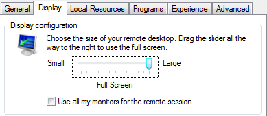 Remote Desktop Display