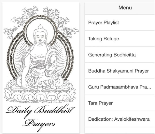 daily buddhist prayers app