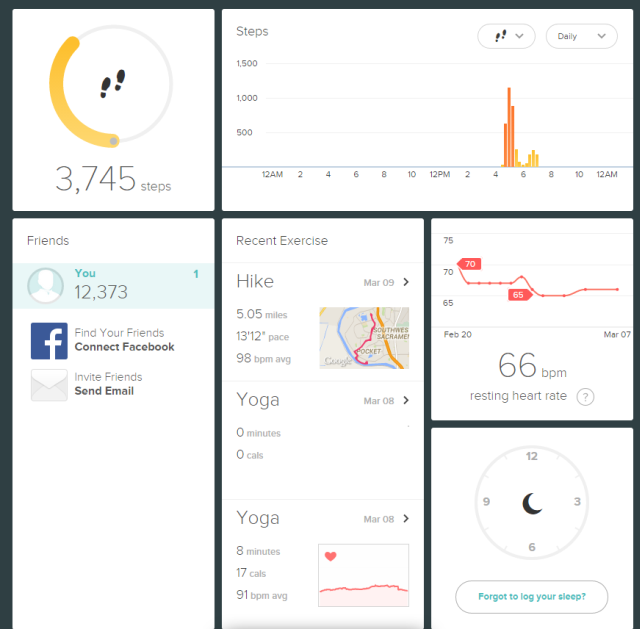 fitbit surge interface