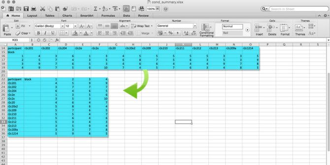 Excel Quick Tips: How to Flip Cells & Switch Rows or Columns
