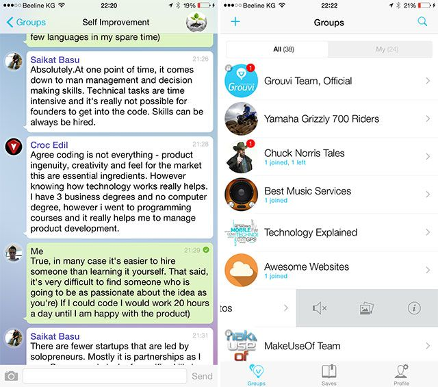 Grouvi Is the New WhatsApp for Topic-Based Chats [iPhone 6 Giveaway] grouvi2