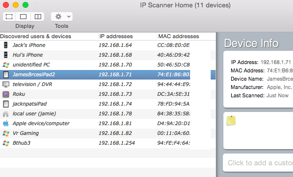 ip scanner home