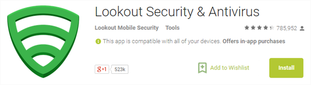 uninstall lookout security android