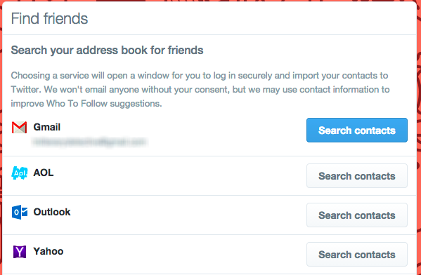 How To Kickstart Your New Social Media Accounts twitter findfriends