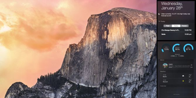 11 More Widgets For Yosemite's Notification Center
