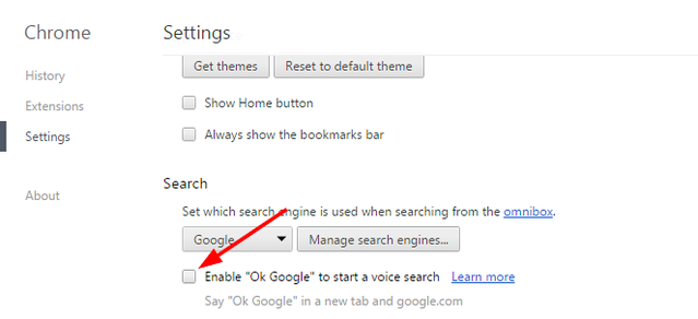 3.1 search settings