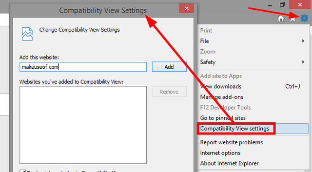 7 IE tools - Compatibility View settings